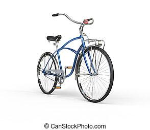 Restored Vintage Blue Bicycle