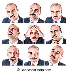 Businessman expressions - a collection of a businessmans...