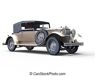 Classic vintage car - pearl white