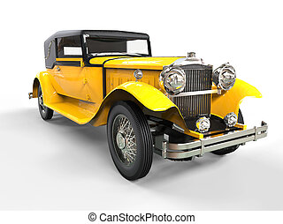 Cool yellow vintage car