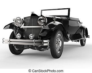 Vintage car - black front view - Vintage car - black - close...