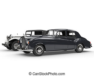 Black and white vintage cars - Cllassic black and white...