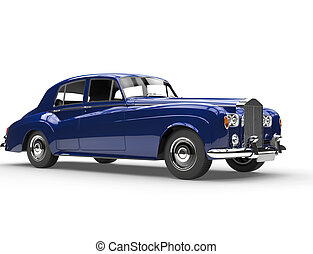 Really cool blue oldtimer car