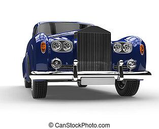 Closeup of classic vintage car - Closeup of beautiful...