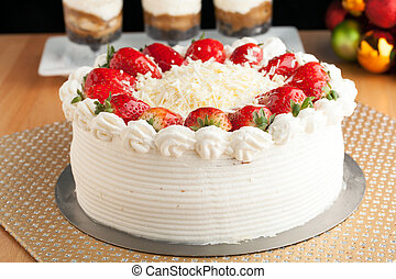 Strawberry Shortcake - Top view of an entire strawberry...