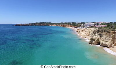 Aerial from Praia da Rocha Portugal - Aerial from Praia da...