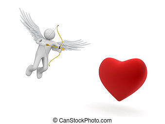 Cupid - Love, valentine day series; 3d isolated characters