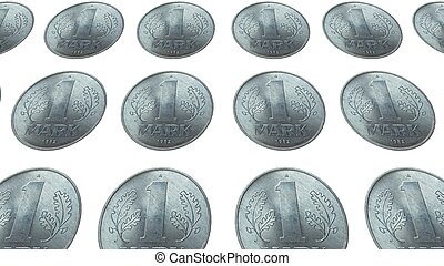 DDR coin - Range of 1 Mark coin from the DDR (East Germany)...