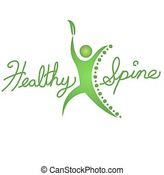Healthy Spine Icon - An image of a healthy spine background...