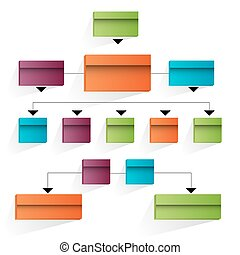 3d Corporate Organizational Chart Icon - An image of a 3d...