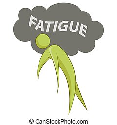 Abstract Person Suffering Fatigue - An image of an abstract...