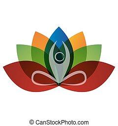 Yoga Man Meditating Icon - An image of an abstract yoga man...