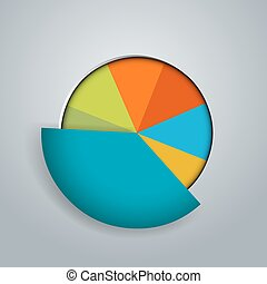 Business Pie Chart Icon - An image of a business pie circle...