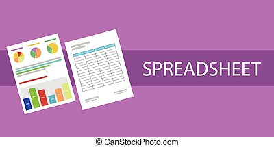 spreadsheet document graph cell paper document  flat