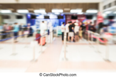 Blurred crowd of passenger at the air port - Blurred crowd...