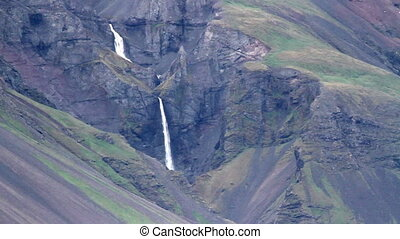 Waterfalls in the mountain - Beautiful shot of Waterfalls in...