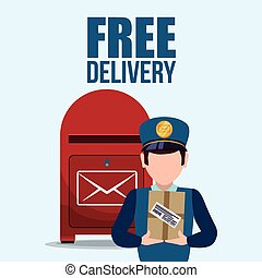 free delivery design - delivery concept shipping icons...