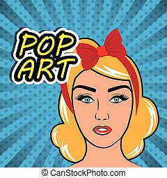 Pop art cartoon graphics - Womens in pop art cartoons...