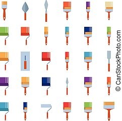 Burnishing tools - Vector mage of a set of icons of...