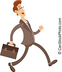 Office worker - Vector image of an office worker whish goes...