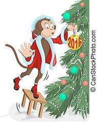 Santa monkey 2016