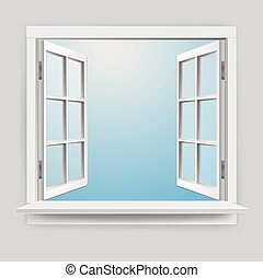 Realistic Vector Window illustration with Glass effect