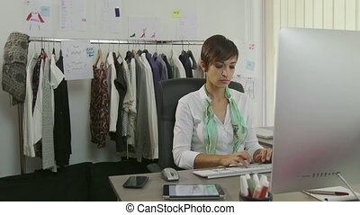 Relax In Office Woman Manager