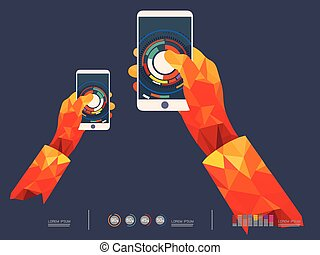 vector illustration of Mobile phone