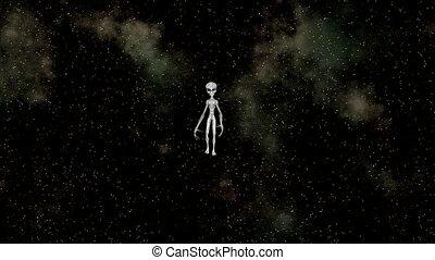 walking alien