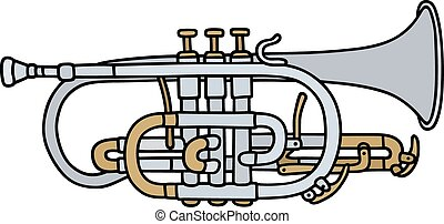 Trumpet - Hand drawing of a classic trumpet