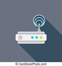 Router single icon - Router icon Flat vector related icon...