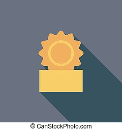 Canned icon Flat vector related icon with long shadow for...