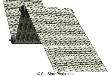 Printing dollars - Printing US 100$ banknotes