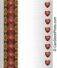Valentines Day Border Fancy hearts