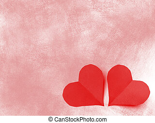 San valentine two hearts - Background for valentine day with...