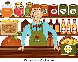 Grocery store salesman