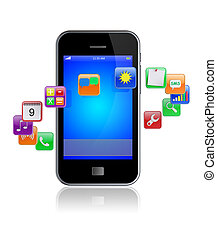 Smart phone apps icons