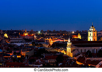 view of the old town Vilnius