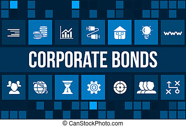 Corporate Bonds concept image with business icons and...