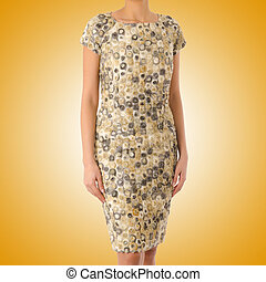 Woman in fashion dress concept