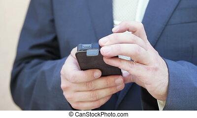 Man smartphone