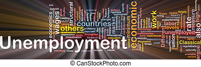 Unemployment word cloud box package - Software package box...