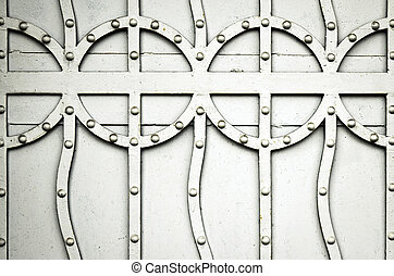pattern detail on old iron gate - abstract background...
