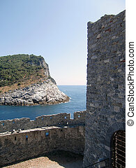 veduta portovenere - coast and sea portovenere italy