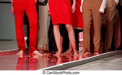 moda, sangue