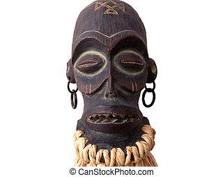 African Art Sculpture Close - Close up of African Asrt...