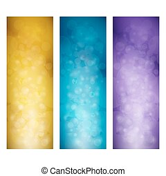 Set of Vibrant Vertical Banners