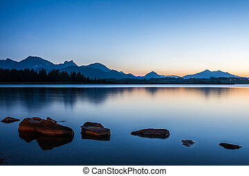 Blue Hour at Lake Hopfen