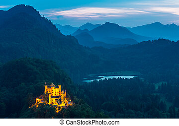 Hohenschwangau castle at Fussen Bavaria, Germany - Beautiful...