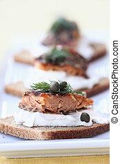 Seasoned Smoked Salmon - Delicious seasoned smoked salmon...